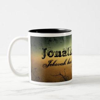 Name Mug with Grunge Background & Fonts