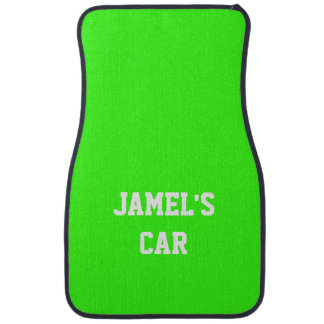 Name Neon Green Top Single Color Car Liners