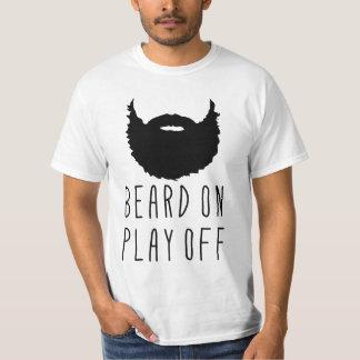 Name Number Back Print, Hockey Playoff Beard Tee