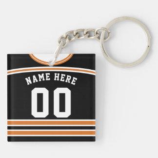 Name & Number Hockey Jersey Keyring, Lacrosse Keychain