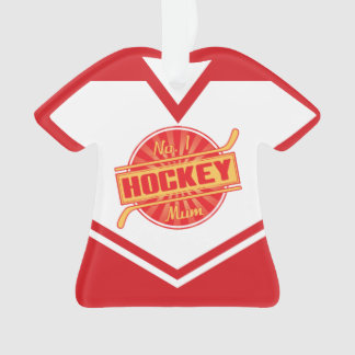 Name & Number Jersey Hockey Mum Ornament