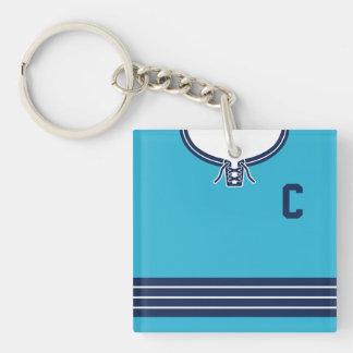 Name & Number Jersey Keyring, Hockey Lacrosse Keychain