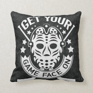 Name & Number Print, Game Face Hockey Cushion