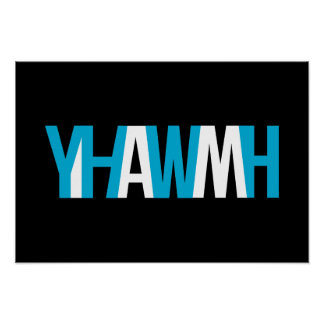 """Name of God - YHWH """"I AM Poster"""