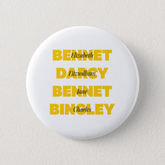 Name of Main Characters from Pride and Prejudice 2 Inch Round Button