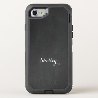 Name on Chalkboard OtterBox Defender iPhone 8/7 Case