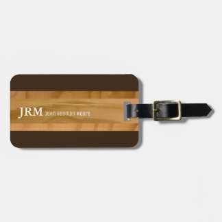 name on wood grains look / airplane travel luggage tag