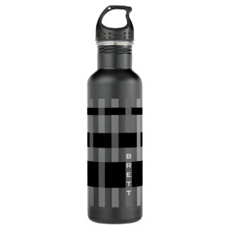 Name or Initials & Modern Weaving Stripes 710 Ml Water Bottle