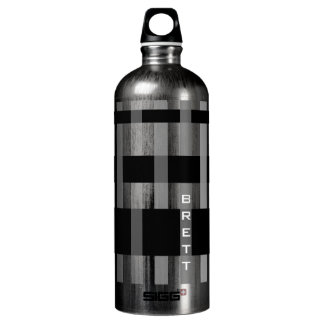 Name or Initials & Modern Weaving Stripes Water Bottle