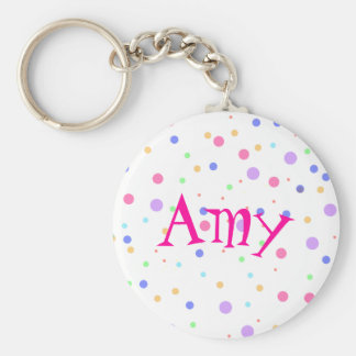 Name or Monogram Custom Made Basic Round Button Keychain