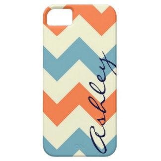 Name orange blue chevron zigzag zig zag pattern id iPhone 5 covers