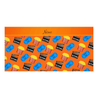 Name orange popcorn movie ticket action sign picture card
