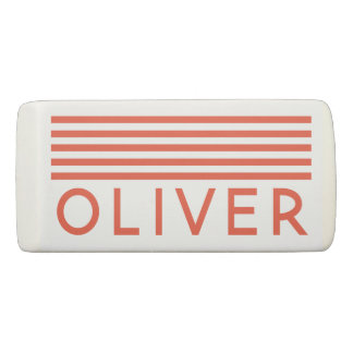 Name Personalized Lined Colorful Eraser