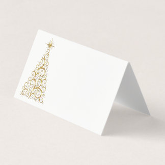 Name Place Card-Christmas Tree Place Card