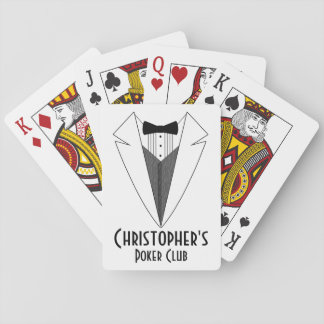 Name Poker Club Personalized Playing Cards