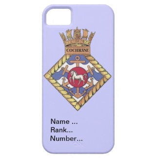 Name, rank, Number, HMS Cochrane iPhone 5 Case