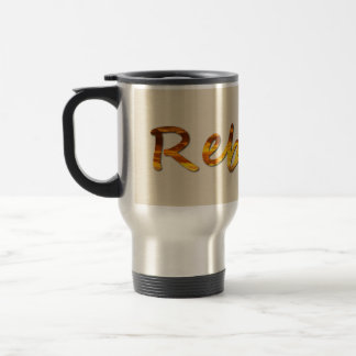 Name Rebecca With Sunrise Image Travel Mug
