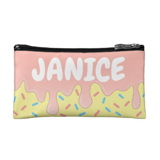 Name sign for girls cosmetic bag
