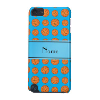 Name sky blue basketball pattern iPod touch (5th generation) cases