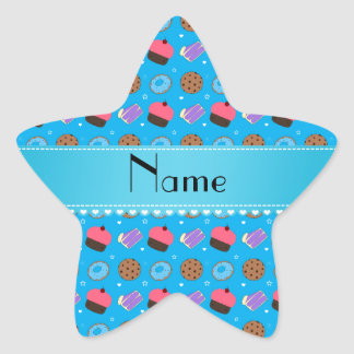 Name sky blue cupcake donuts cake cookies stickers