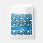 Name sky blue glitter nurse hats silver caduceus favour bag