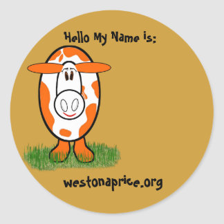 Name Stickers for Weston Price Meetings