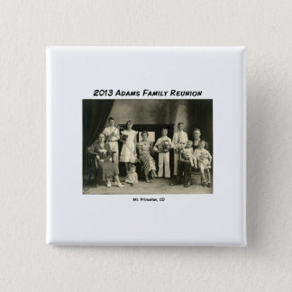 Name Tag Adams Reunion 2 Inch Square Button