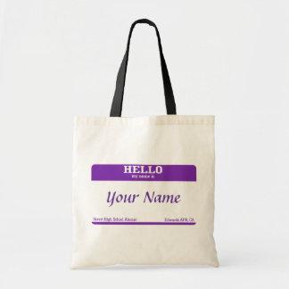 Name Tag Budget Tote Bag