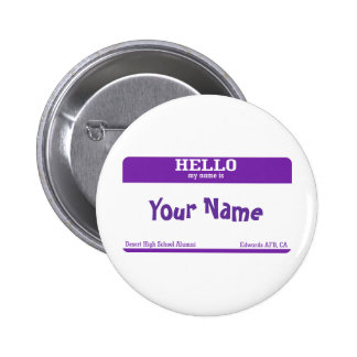 Name Tag Pinback Buttons