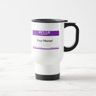 Name Tag Stainless Steel Travel Mug