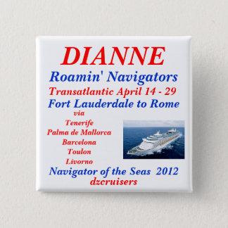 name tag navigator white 2 inch square button