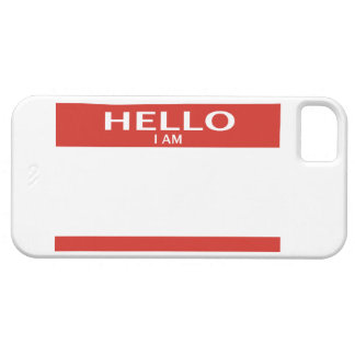 Name tag phone cover for iPhone 5