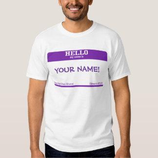 Name Tag Tshirts