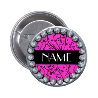 name template button with silver diamonds edge