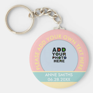 name, text & special date, photo color keychain