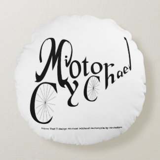 Name That T Design:  Michael M. Motorcycle Pillow