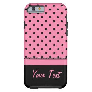 Name Tube Sock Black Polka Dots hot pink Tough iPhone 6 Case