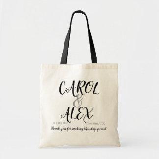 Name Welcome Hotel Gift Favor Bag Wedding