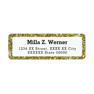 name with faux gold glitter