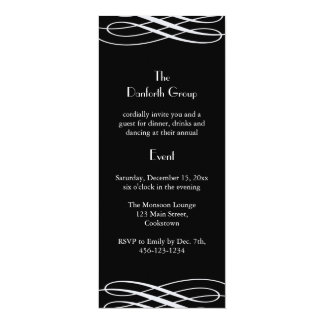 Name your Event Black with Ribbons Card