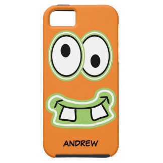 Name Your Iphone Silly Faced Monster Grin iPhone 5 Cases