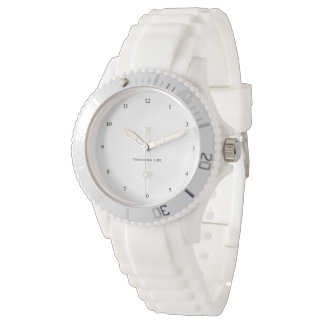 Name Your Sporty White Wristwatch