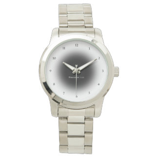 Name Your Unisex Oversized Silver Bracelet Watch