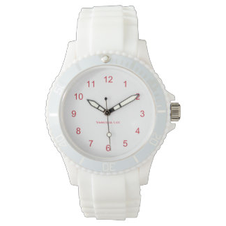 Name Your Women's Sporty White Silicon Watch