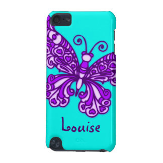 Named butterfly aqua purple ipod case