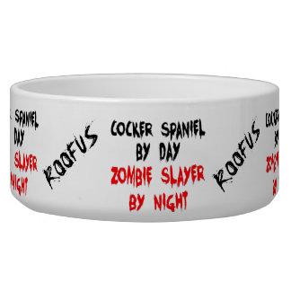 Named Cocker Spaniel Dog Zombie Joke Bowl
