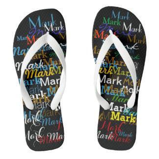 named . color names . personalized flip flops