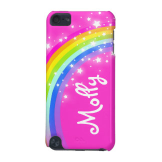 Named kids rainbow pink girl ipod case iPod touch (5th generation) case