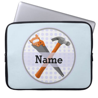 Named Personalized Tools design for boys. Laptop Sleeve