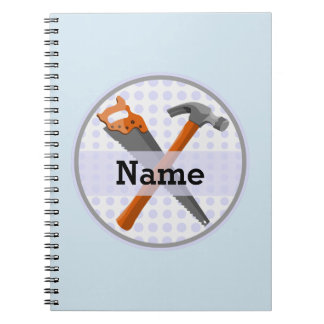 Named Personalized Tools design for boys. Notebook